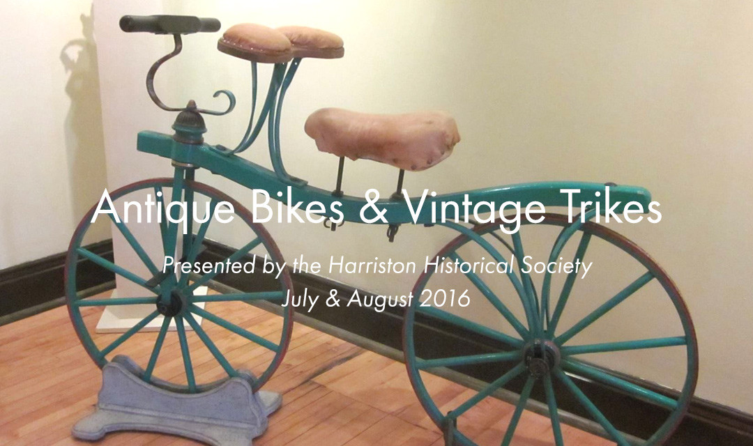 Antique Bikes & Vintage Trikes at the Minto Arts Gallery
